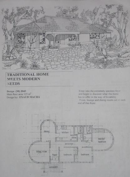 Modèle de maison présenté par un architecte